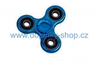 SPINNER Fidget  kovový,  modrý chrom